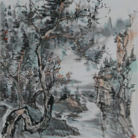 常州展讯丨水墨流韵山水情——我国当代著名画家苏鼎先生线上画展